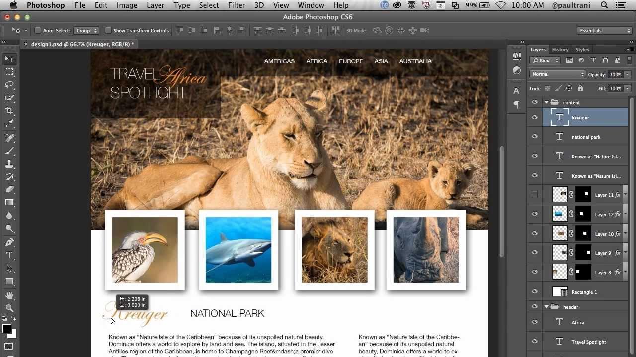 Как делать веб дизайн в фотошопе