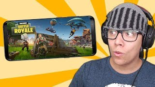 JOGUEI FORTNITE NO CELULAR ANDROID