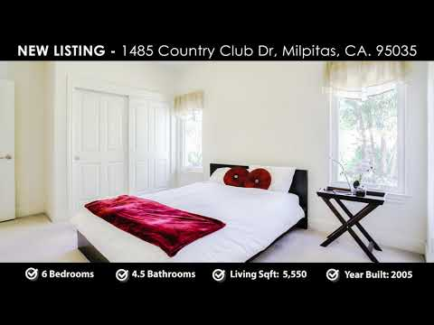 New Listing   1485 Country Club Dr, Milpitas, CA  95035