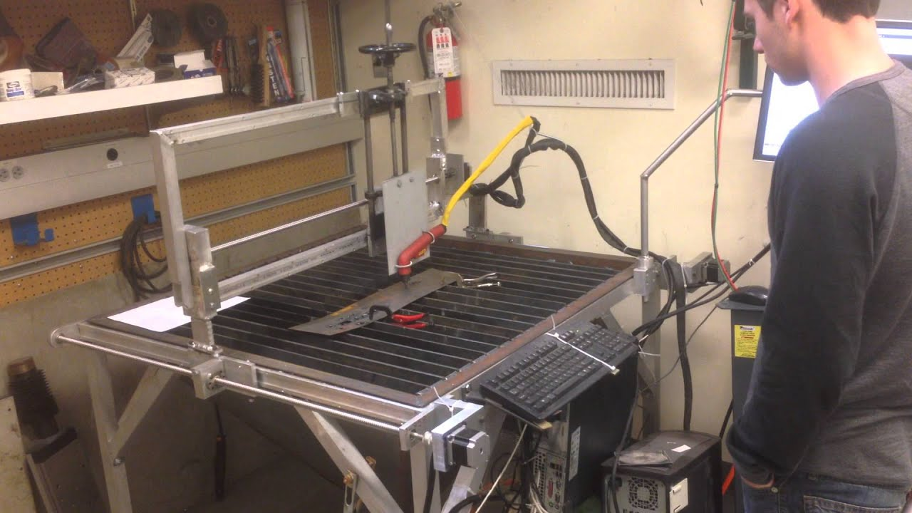 Diy Cnc Plasma Cutter First Run Youtube