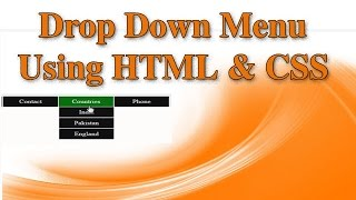 how to create dropdown menu in html and css hindi