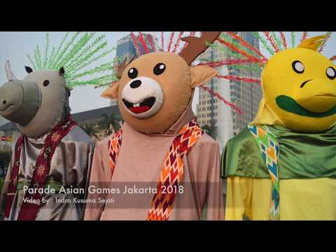 Parade Menejelang Asian Games di Monas Jakarta 2018 (Full HD)