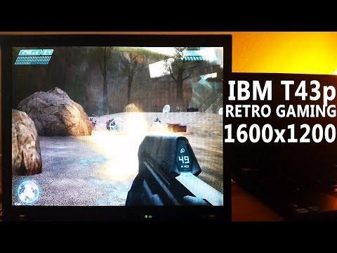IBM ThinkPad T43p - playing 15 retro games at native 1600x1200 resolution