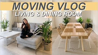 Moving Vlog 2 | Ikea, Living & Dining Room, Building Furniture | Jenny Zhou 周杰妮