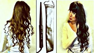 Красивые локоны в домашних условиях. Обзор конусной плойки Remington. Делаю кудри на длинные волосы.