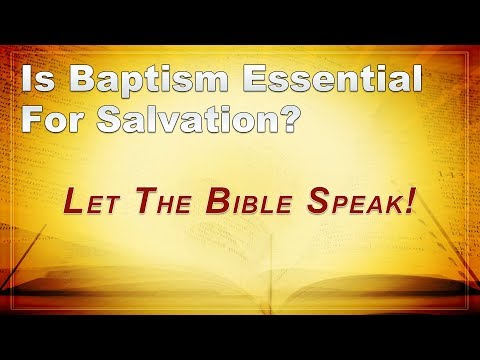 baptism debate Does salvation occur through baptism if so, where does jesus fit in if not, what  purpose does baptism serve alistair begg walks us through.