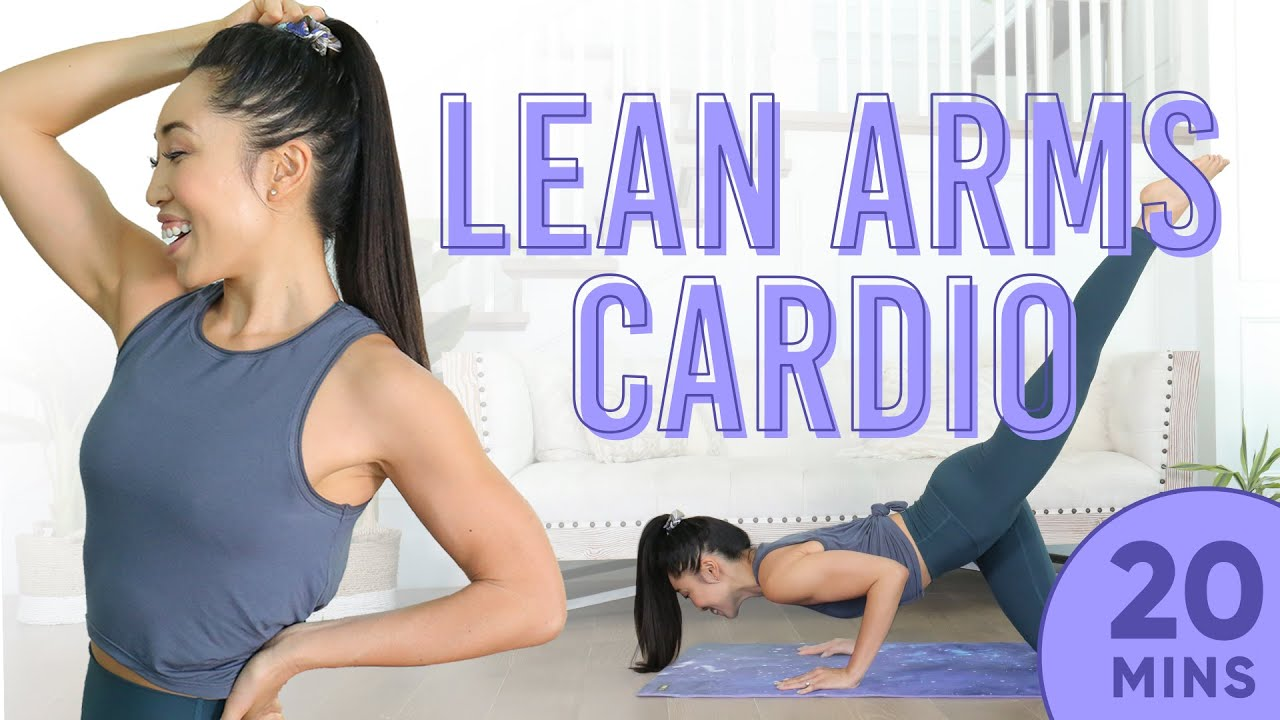 20 Minute Lean Arms Cardio Pilates Workout | 7 Day Arm Challenge (do this video every day)