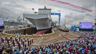 queen elizabeth carrier tms deck coating bbc one show 26 jan 17