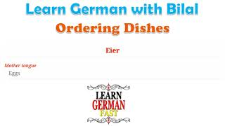 Learn German with Bilal:- Ordering Dishes