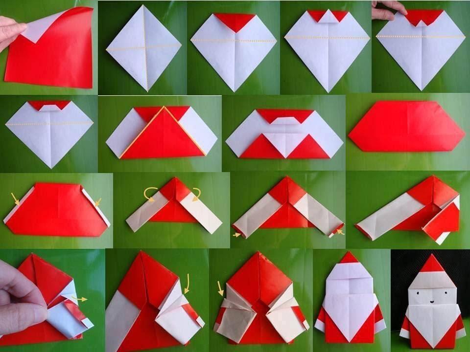 Новогоднее оригами: Дед Мороз