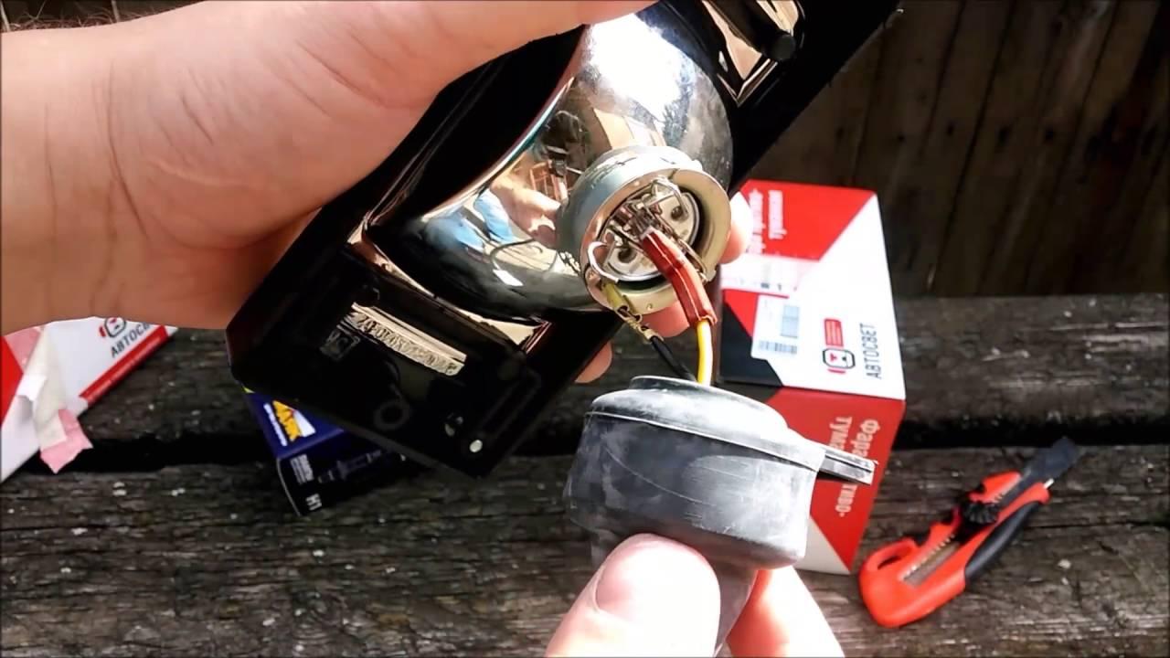 Противотуманные фары КИРЖАЧ H1 ВАЗ 2115 распаковка установка на автомобиль и тестирование