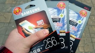 sAMSUNG MicroSDXC EVO 256GB и PRO 128GB обзор лучших на рынке карточек памяти. Оригинал из Китая?