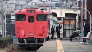 八戸線 キハ40系439D 白銀駅発車 2018年1月18日