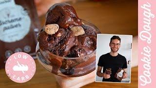 Cookie Dough Eis ohne Zucker - Einfach & lecker ohne Eismaschine!