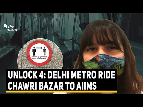 Delhi Metro Reopens: 'My First Ride Post Lockdown' | The Quint