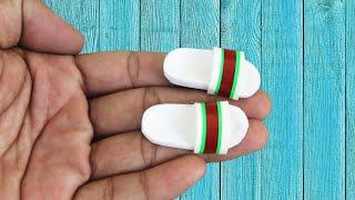 구찌 미니어처 고무 샌들 만드는 방법 바비 신발