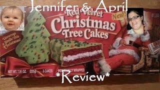Little Debbie Red Velvet Christmas Tree Cakes Review