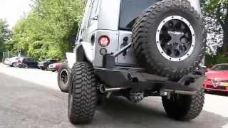 Jeep Wrangler JK Custom 5.7 Hemi - Maatwerk RVS dual uitlaatsysteem van EPS Uitlaten BV