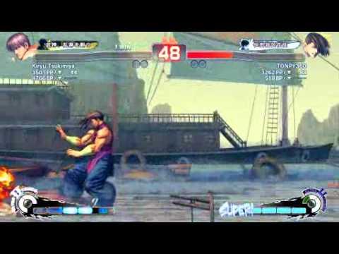 SSF4 AE: Kiryu Tsukimiya (Guy) vs Tonpy (Yang) - Ustream Set