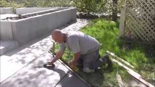 Cement Work on the Rancho...Wheelchair Ramp and Sidewalk