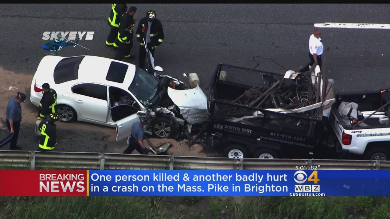 1 killed, 1 in critical condition after mass. pike crash - youtube
