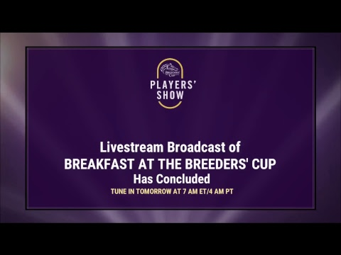 Breakfast at the Breeders' Cup Sunday October 28