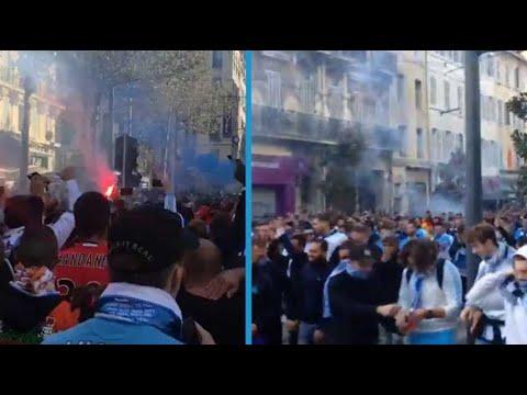 Avant la rencontre OM PSG, la chaleur monte dans les rues de Marseille