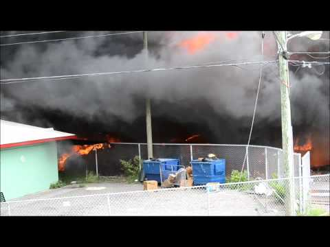 Cars Burning At HWP Fire, August 8 2011, Bermuda