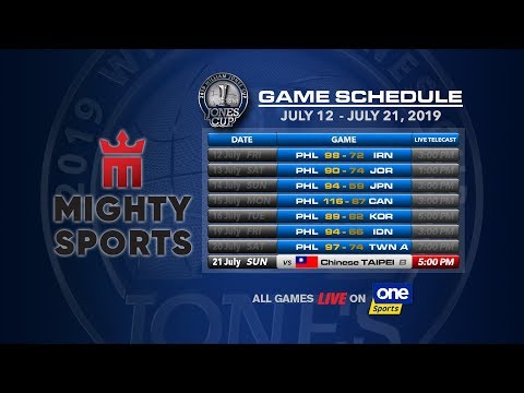 JULY 21: 41st William Jones Cup: Mighty Sports - Go For Gold Philippines Vs Chinese Taipei B