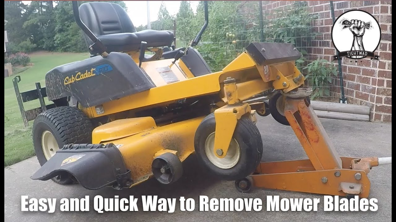 Easy Quick and Safe Way to Remove Mower Blades