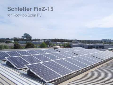 An iEnergytech Solar PV plant using Schletter GmbH's FixZ-15 racking system