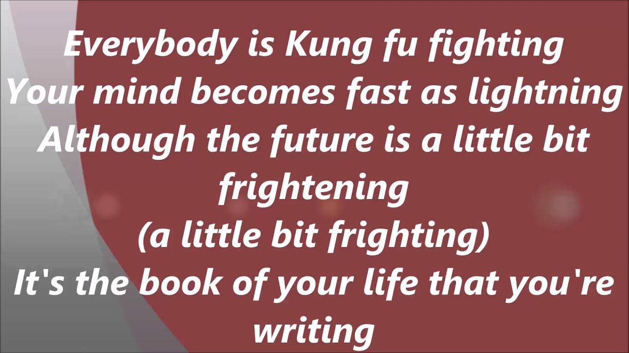 Kung fu fighting lyric