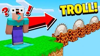 1 NOOB vs WORST MINECRAFT PARKOUR TROLL!