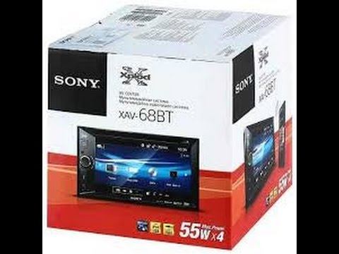 Sony XAV-68BT Display and Controls Demo | Crutchfield Video - YouTube