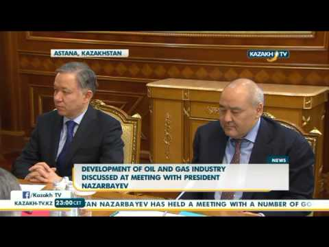 Development of oil and gas industry discussed at meeting with President Nazarbayev - Kazakh TV