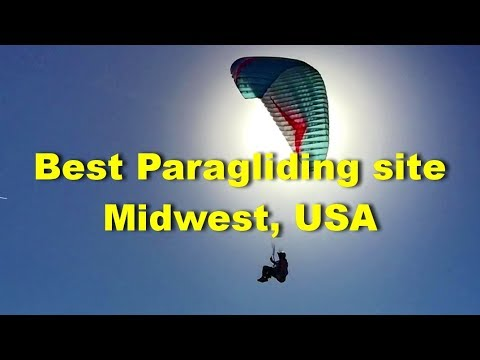 paragliding near me: the best free flight site of Midwest