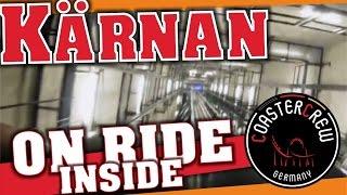 Kärnan Licht an im Turm | Roller Coaster | reverse free fall lights on | onride POV | freier Fall