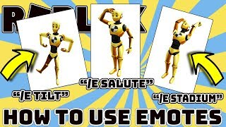 *EMOTES DIDN'T GO AWAY* - How To Use Emotes in Roblox