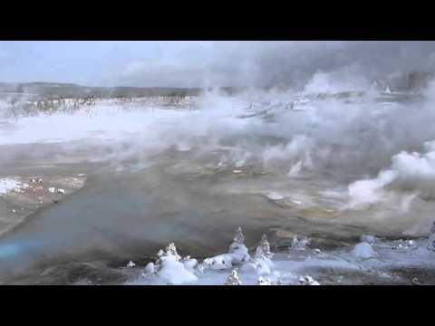 Yellowstone's Norris Geyser Basin in Winter