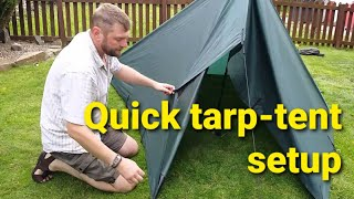 Quick Tarp Tent for moderate wind and rain conditions