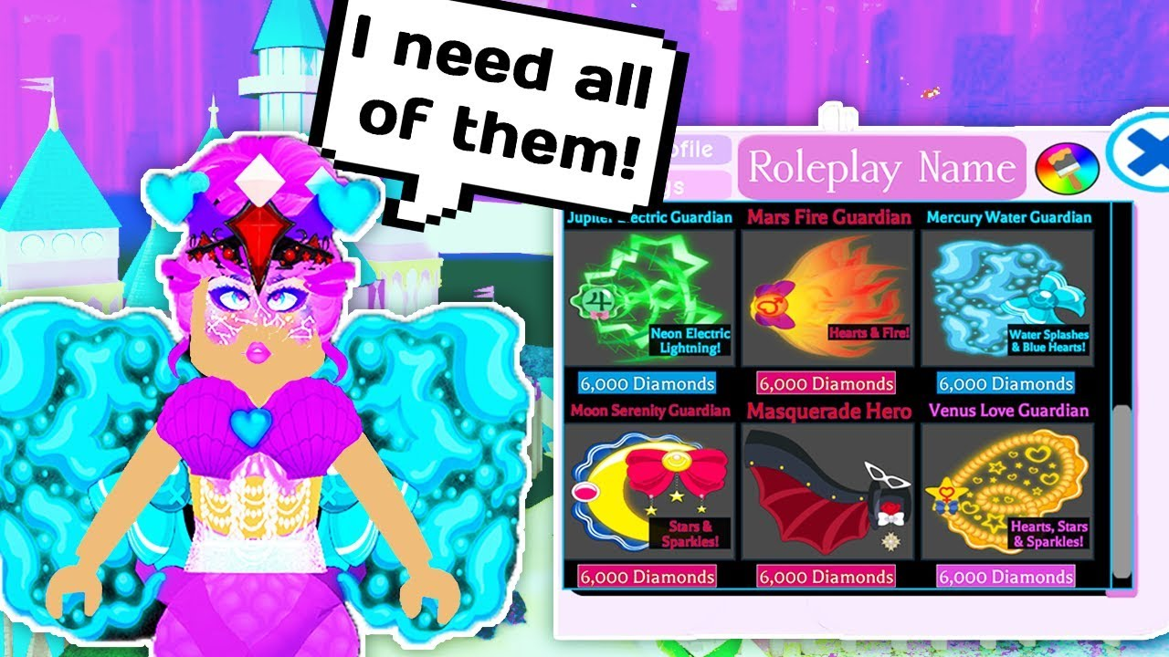 BUYING ALL OF THE ELEMENTAL WINGS // Roblox Royale High School Update //  Hair, Wings & Profiles