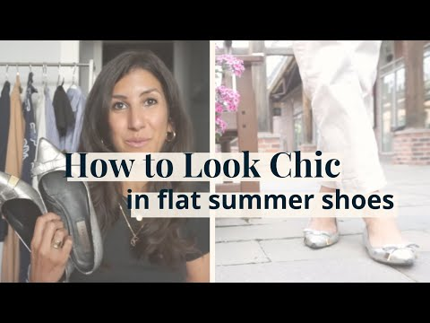How To Look Chic & Tall In Flats | Tips For Flats, Sneakers, Sandals | Sustainable Shoes