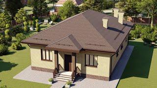 Одноэтажные дома с террасой для ИЖС