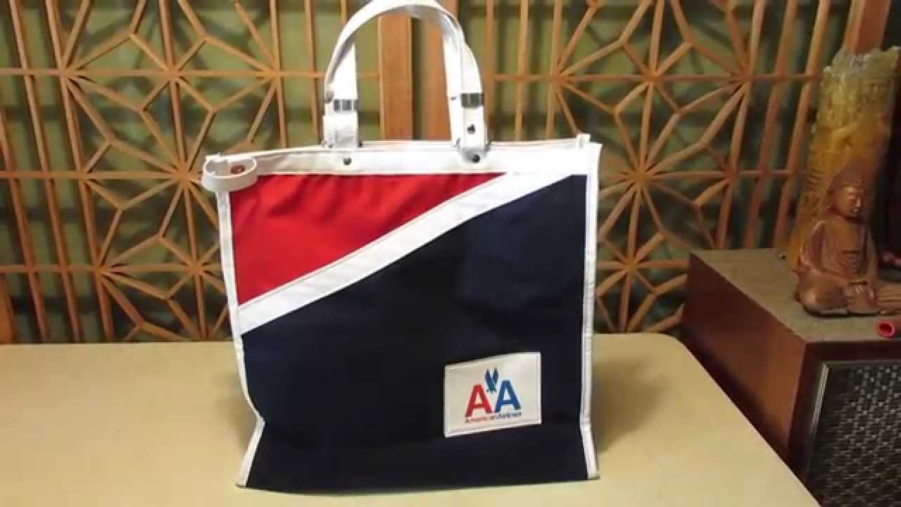 American Airlines Vintage Travel Flight Bag AA Retro Airline Collectable  Tote a3daedba843db