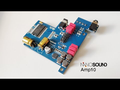NanoSound DAC2 & Amp10 Demo - Raspberry Pi DAC + Digital Amplifer Combo