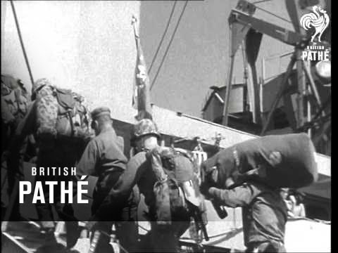 Marines Sail For Middle East (1950-1959)