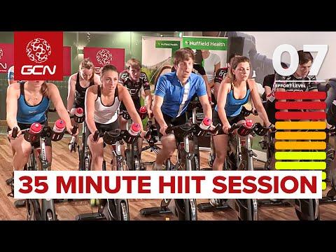 HIIT 35 Minute Cycle Training Workout Hill Training