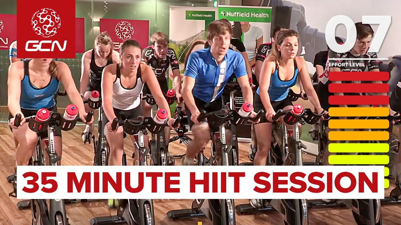 HIIT – 35 Minute Cycle Training Workout – Hill Training