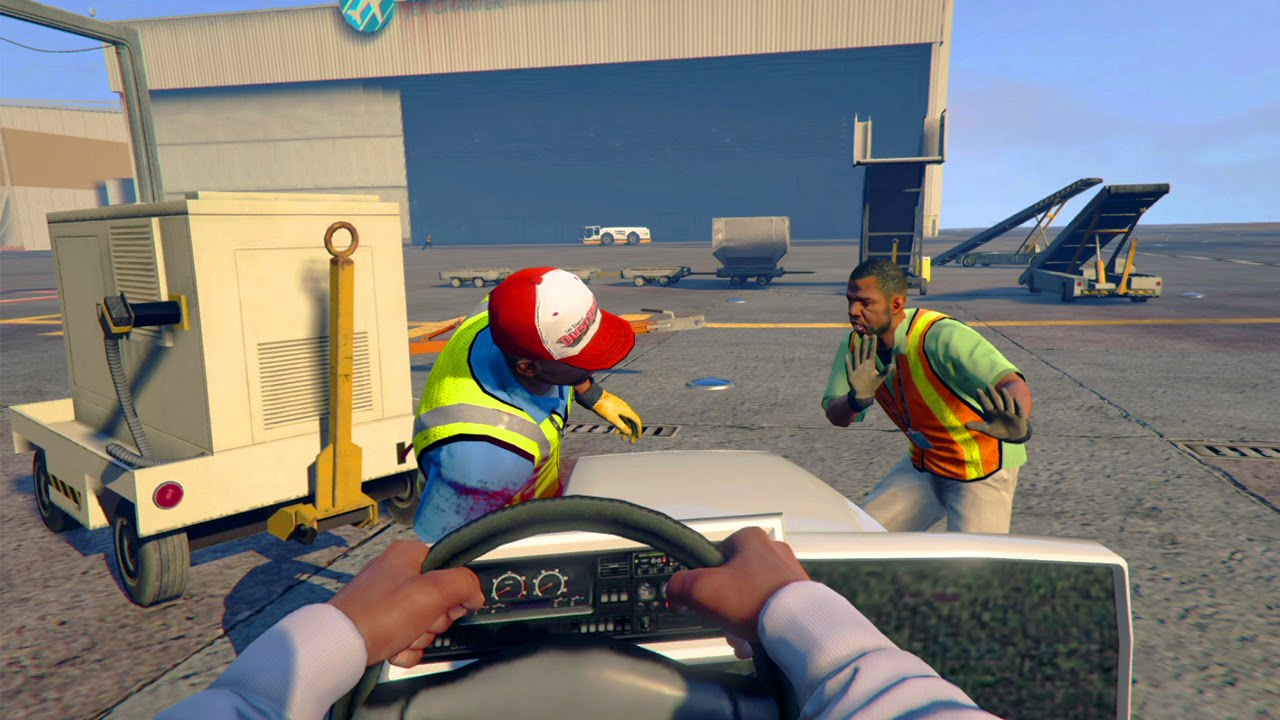 GTA 5 WAR #3 - INSANE FIRST PERSON AIRPORT TAKEOVER! (GTA ...