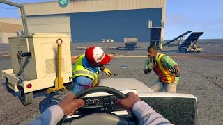 GTA 5 WAR #3 - INSANE FIRST PERSON AIRPORT TAKEOVER! (GTA V Online)